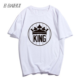 $enCountryForm.capitalKeyWord Australia - E-BAIHUI New Men King T-shirts Summer Style Cotton Men's T-shirt Crown Print Tops Tees Fashion Casual O Collar Shirt T-120