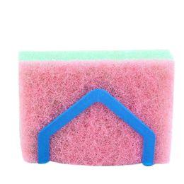 $enCountryForm.capitalKeyWord UK - Bathroom Shelf Sponge Clothes Storage Rack Suction Kitchen Clean Holder Clip Rag Hollow Drain Rack Soap Hanging Shelves
