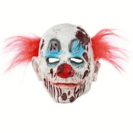 $enCountryForm.capitalKeyWord UK - Latex Scary Clown Mask with Red Hair Halloween props Masquerade Joker Mask Cosplay Costume Full face Adult Masks