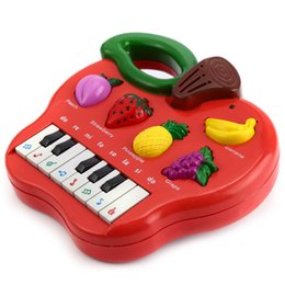 Sound Gifts Australia - Music songs baby child fruits Piano Musical Toy Educational Development baby sound toy fruit knowledge colorful gift