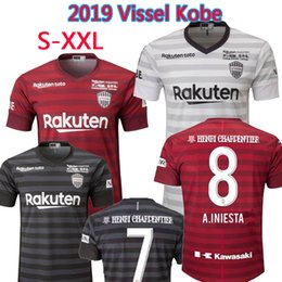 bba173d6ba4 2019 Vissel Kobe home Red SHIRT CUSTOMIZE home away third Football shirt 19  20 soccer jersey 8 Iniesta 7 Mita 10 Podolski football shirts