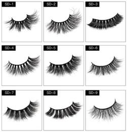 volume lashes 2019 - 30 Pairs 25mm Lashes Dramatic Mink Lashes Soft Long 3D Mink Eyelashes Crisscross Full Volume Eye Makeup cheap volume las