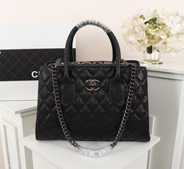Discount french bags brands - New French high-end brand ladies handbag fashion leather business casual party travel women's black plaid handbag f