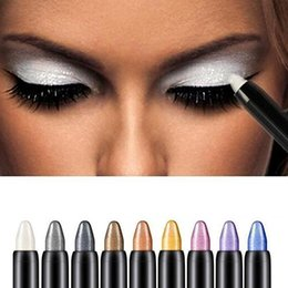 9pc / 9colors / lot Beauty Highlighter Eyeshadow Pencil Cosmético Glitter Light Eyeliner Shadow Pen Moda Mujer Maquillaje Herramienta de belleza