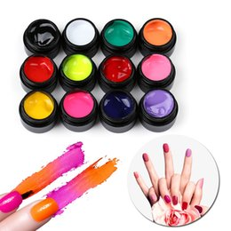 acrylic paint gel nails Australia - 5ML Nail Art Gel Paint Draw Painting Acrylic UV Gel DIY Colored Nail Art Tips Draw Polish Beauty Manicure 12 Colors