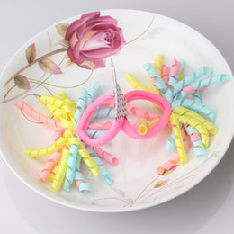 $enCountryForm.capitalKeyWord Australia - 1lot=2pcs Baby Hair Accessories Colorful Ribbon Scrunchy Children Elastic Hair Ring Instant Noodles Shaped Ponytail Hair Band
