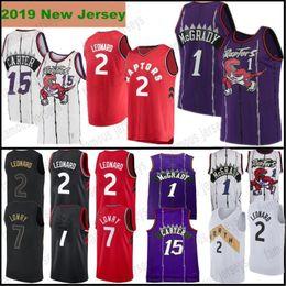 84c8380ce Stitched 1 Tracy McGrady Toronto Raptors 15 Vince Carter 2 Kawhi Leonard 7  Kyle Lowry Mens Jerseys 2019 New High Quality Jerseys