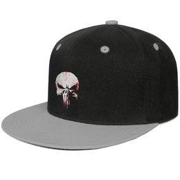 Skull Cap Ball Australia - Punisher skull Unisex Man Cap Women Caps Fashion Cotton Snapback Flatbrim Workout Hats Ball Cap for Women