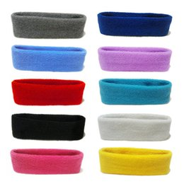 cfbc06d26a46e New Women Men Cotton Sweat Sweatband Headband Yoga Gym Stretch Head Band  For Sport  NE822