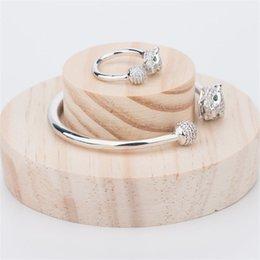 $enCountryForm.capitalKeyWord NZ - Fashion Designer Animals Rings Bangles Sets Luxury Design Bracelets Rings Gold Silver Rose Couple Wedding Jewelry Set Lovers Gifts