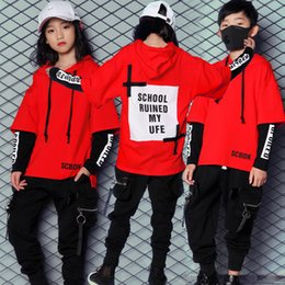 Wholesale new korean clothes for women online – New Korean Style Hiphop Dance Clothes for Kids Boys Girls Women Men Children Jazz Hip Hop Pop Suit Street Dancewear Costumes