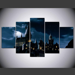 $enCountryForm.capitalKeyWord UK - Castillo Hogwarts Harry Potter,5 Pieces HD Canvas Printing New Home Decoration Art Painting Unframed Framed