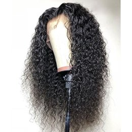 Deep Curly Indian Lace Wig Australia - Lace Front Wig Deep Curly Pre-plucked Hairline Curly Full Lace Human Hair Wig Malaysian Virgin Hair 180% Density Bleached Knots