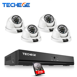 Camera Detection System Australia - Techege h.265 4CH NVR 1080P POE CCTV Camera System Kit 2MP IP Camera POE Home Security Video Surveillance Kit Motion detection