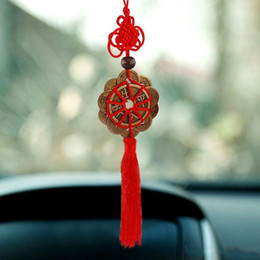 $enCountryForm.capitalKeyWord NZ - Red Chinese knot FENG SHUI Set Of 10 Lucky Charm Ancient King I CHING Coins Prosperity Protection Good Fortune Luck Home Car Decor