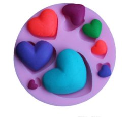 Silicone Heart Cake Moulds Australia - Various Love Heart Shape Silicone Cake Mold , Baking Silicone Mould For Soap Cookies Fondant Cake Tools Cake Decorating