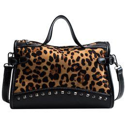 ccaa04d5971e Michael Kors Handbags NZ - good quality 2019 Rivet Pu Leather Women Handbag  Big Capacity Leopard