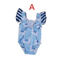 89e9d6d320 2019 SUMMER New alpaca full print Girls Bikini for Sisters Kids Cartoon  Horse Printed Tankini Little and Big Sister Stripe Swimming suitSet