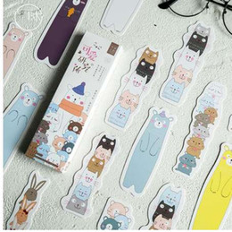 Best paper Bookmark online shopping - 30pcs kawaii cartoon animal hand drawn bookmarks page holder best gifts for reader office and school supplier stationery