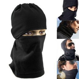 full face mask for winter NZ - Unisex Thermal Fleece Balaclava Neck Winter Ski Full Face Mask Cover Cap For Motorcycle Face Mask Windproof Hat 7IEZ