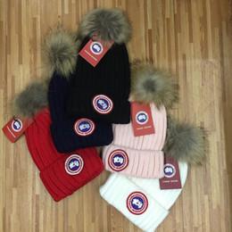 Fur Hats Men Australia - Real fur CG brand beanies men women unisex beanies hight quality pom-pom skull caps hats with original tag