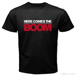 $enCountryForm.capitalKeyWord NZ - New Here Comes The BOOM MMA Film Fun Men's Black T-Shirt Size S-3XL