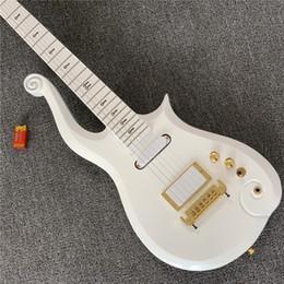 Super guitarS online shopping - Super Rare Prince Cloud Sparkle Pearl White Electric Guitar Alder Body Maple Neck Black Symbol Inlay Wrap Around Tailpiece