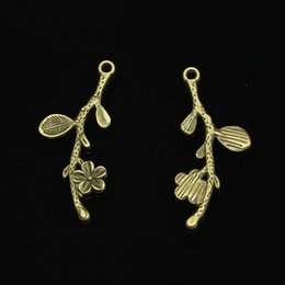 antique branch pendant Australia - 133pcs Charms branch cherry blossom flower Antique Bronze Plated Pendants Fit Jewelry Making Findings Accessories 41*17mm