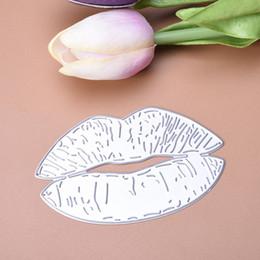 Silver Stencil Australia - Silver Color Sexy Lips Metal For Scrapbooking Embossing Cutting Stencil Cutter Dies DIY Photo Album LQW0119
