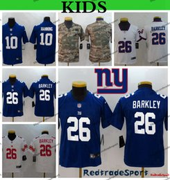 football giants NZ - Youth New Blue York Kids Giant Saquon Barkley Football Jerseys 10 Eli Manning 26 Saquon Barkley 2019 Camo Salute to Service Stitched Shirt