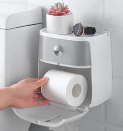 Toilettes étanche support mural Porte-papier serviette pour papier hygiénique papier Boîte rack papier hygiénique de toilette murale en Solde