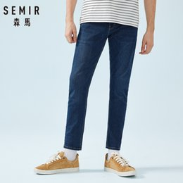 Wholesale SEMIR Men Skinny Jeans in Washed Denim with Side Pocket Men s Slim Fit Cotton Jeans with Zip Fly Button for Spring Autumn