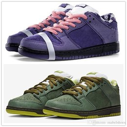 $enCountryForm.capitalKeyWord NZ - TOP Concepts x SB Dunk Low Skateboard Shoes Purple Green Lobster Diamond Su Fashion Designer Star Sole Casual Sports Shoes