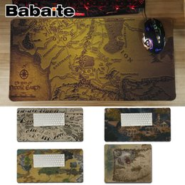 Discount unique maps - Babaite In Stocked Lord of the Rings map Office Mice Gamer Soft Mouse Pad Unique Desktop Pad Game Lockedge Mousepad