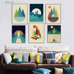 $enCountryForm.capitalKeyWord Australia - ome Decor Painting Calligraphy Modern Abstract Geometric Mountain Posters Prints Colorful Pop Nordic Home Decor Landscape Big Wall Art Pi...