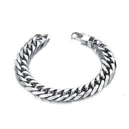 $enCountryForm.capitalKeyWord Australia - 2019 stainless steel men bracelet gifts mens male boy curb cuban link chain on hand chain accessories bracelets hip hop style