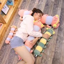 $enCountryForm.capitalKeyWord NZ - YESFEIER 100cm 1pc Caterpillars Plush Kids Toys Soft Plush Pillow Animal Doll Boys Girls Toy Peluche Cushion For Children Gifts