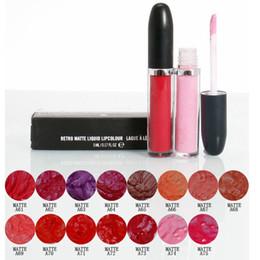 mixed lipstick 2019 - Liquid Matte Lip Gloss Lipstick Professional Makeup Lasting Lipgloss Lipsticks Make Up Tools 15 Colors RRA1117 discount