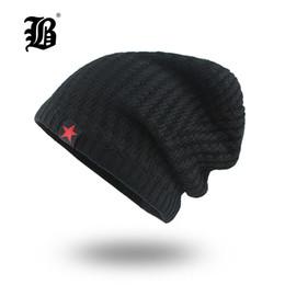 b0e23a32366a0  FLB  Mens Skullies Winter Hat Beanies Knitted Cotto Hip Hop Stocking Hat  Plus Velvet Rasta Cap Star Bonnet Hats For Men F18007 S1218