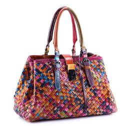 $enCountryForm.capitalKeyWord Australia - Women Fashion Vintage Bag Oil Wax Women's Leather Handbags Luxury Ladies Hand Weaving Purse Pocket Women Shoulder Casual Tote