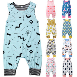 high quality jumpsuits Australia - Summer Cotton Newborn Baby Rompers Toddler Kids Boys Girls Cute Floral Print Jumpsuits Playsuits High Quality Infant Clothes