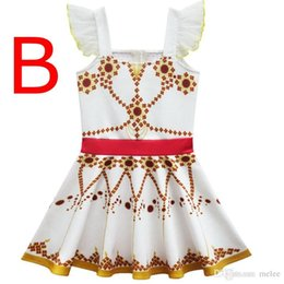 $enCountryForm.capitalKeyWord Australia - INS Summer Kids Girls Suspender Dress Lace Wing Sleeve Polka Dot Printed Dresses Girl Ballet Dresses Children Ballerina Dancing dress 3-10T