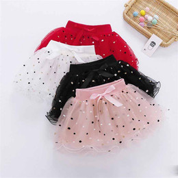 $enCountryForm.capitalKeyWord Australia - INS Designs Little Girls Summer Leaf Embroidery Skirt Short Bow Tie Dance Skirt Baby Girls TUTU Skirts Princess Polka Dot Child Clothing