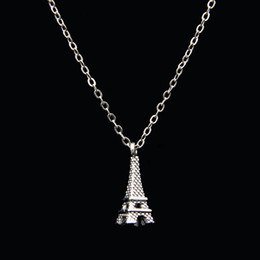 womens choker collars Australia - Poputton Eiffel Tower Chokers Necklaces for Womens Collar Silver Chain Choker Necklaces & Pendants Jewelry Collier Femme 2018