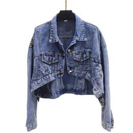 $enCountryForm.capitalKeyWord UK - Dreawse Spring Women Retro Chic Jacket Front Short Back Long Temperament Wash Thin Slim Female Denim Jacket Shirt Tide MZ3368