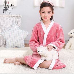 kids robes children NZ - Children's Robes Kids Pajamas Clothes Child Boys Fleece Warm Bathrobes Girls Nightgowns Clothing Set Cartoon Sleepwear 2-10year J190520