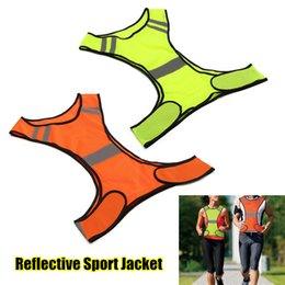 $enCountryForm.capitalKeyWord Australia - Breathable Adjustable Safety Security High Visibility Reflective Vest Gear Stripes Jacket Night Running Work Cycling Sport Vest