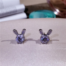 $enCountryForm.capitalKeyWord Australia - Lovely Designer Women Cute Rabbit Shape Stud Earrings Real 925 Sterling Silver All Matching Earrings