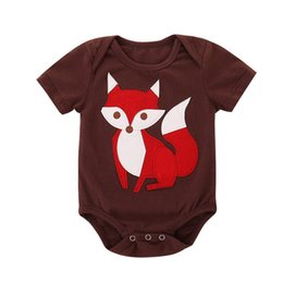 1f5ed6ba006 Summer Babys Clothes Toddler Infant Baby Boy Girl Short Sleeve Cartoon Fox  Printed Jumpsuit Romper Clothes Baby Romper JY17 FN
