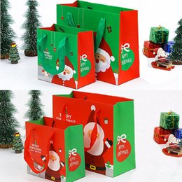 Christmas Gift Bag Paper Australia - New Pack of Small Medium Christmas Gift Bags Xmas Present Gift Candy Bag Paper Packaging
